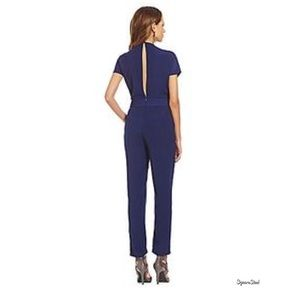 Gianni Bini Navy Reese Open Back Jumpsuit